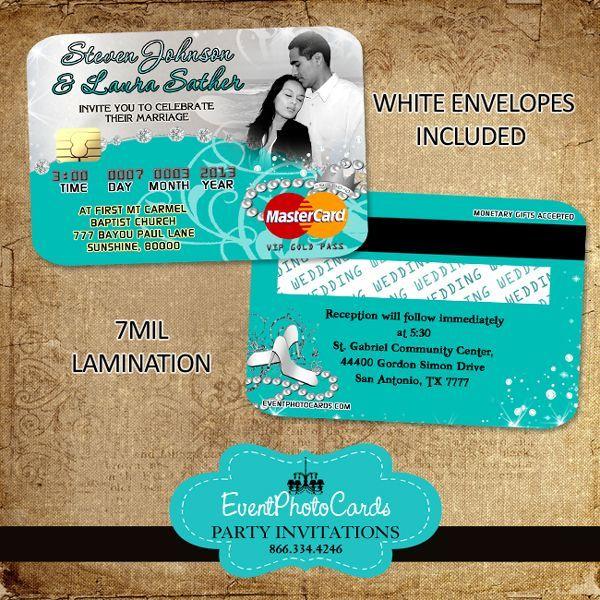 Princess Tiffany Wedding Invitations Very Unique Credit Cards | Wedding Style | Pinterest
