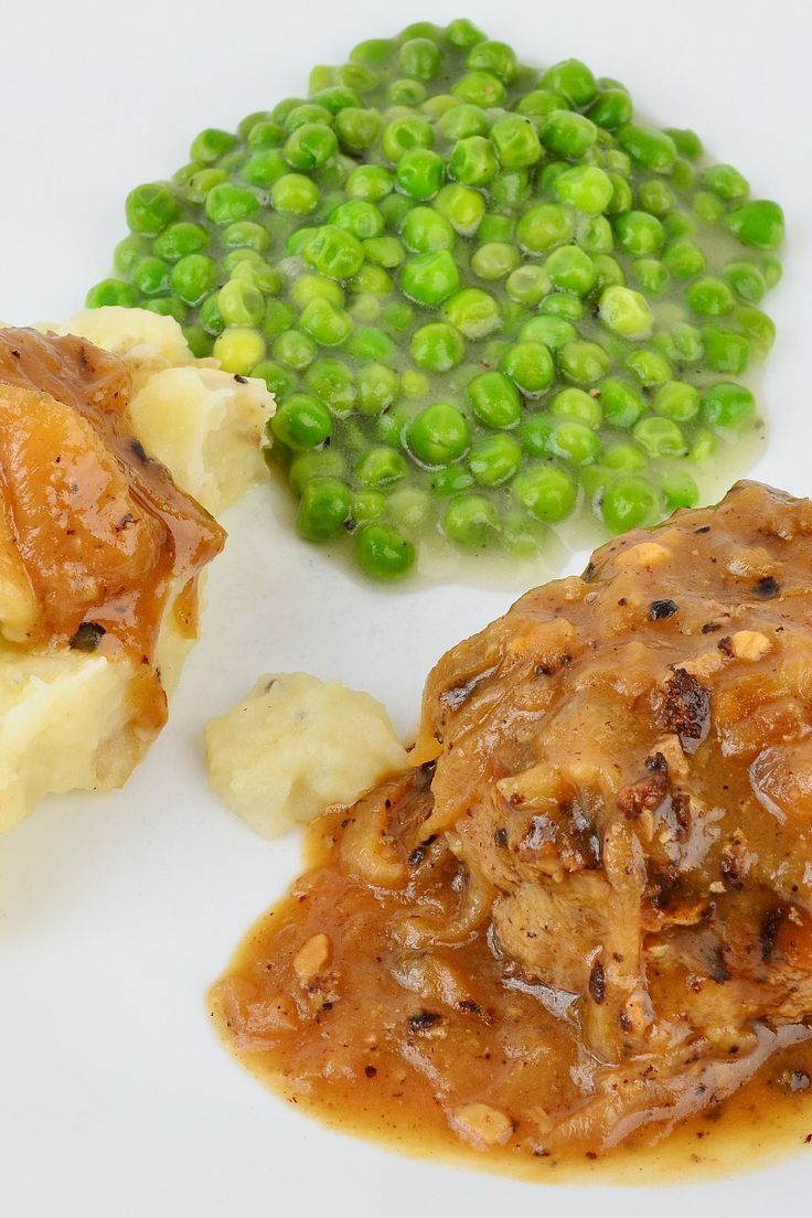 Hamburger Steak with Onions and Gravy Recipe I got this recipe at http ...