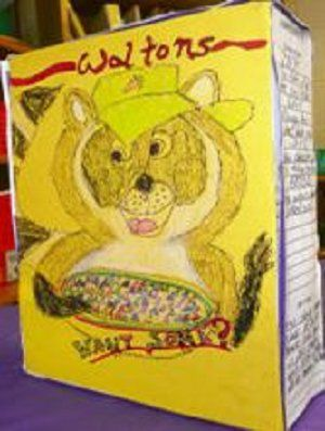 Cereal Box Book Report Mrs Stocklin S Nd Grade Class Book Report Cereal Box  Biography Pinterest