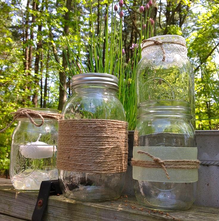 Mason jar rustic centerpieces one day pinterest