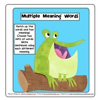 Pitner's Potpourri: Hoppin' on Multiple Meaning Words -- Freebie!