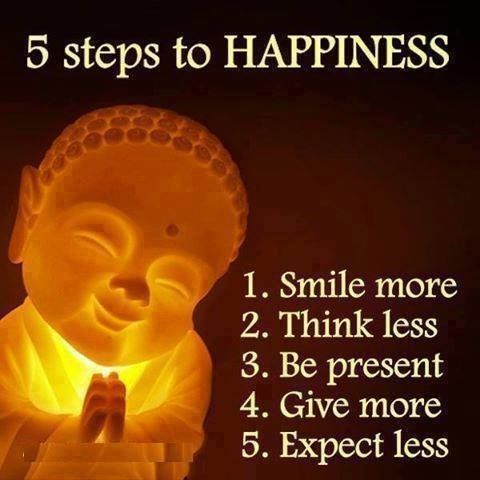 5 Steps to Happiness.....