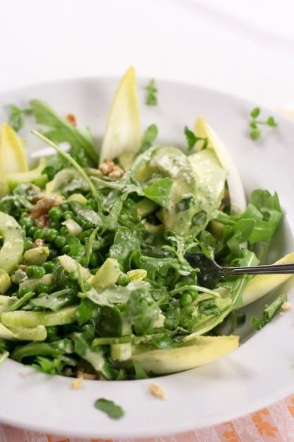Lean Mean Green... Pea Salad (and creamy cucumber dressing) - The ...