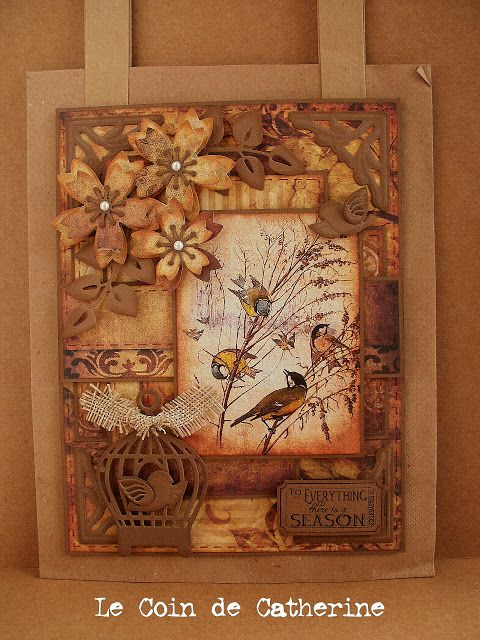 "I have been playing with another  of the beautiful images of the set ""Nature Notes of an Edwardian Lady"" you can find at Nicecrane Designs. If you like the artwork of Edith Holden you're in for a treat ! Here is the gift bag I have made..."