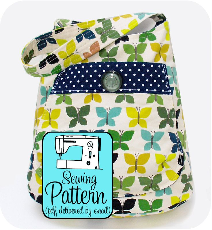 Crochet Bucket Bag Pattern : Bucket Bag PDF Sewing Pattern Crochet, Knit & Sew Pinterest