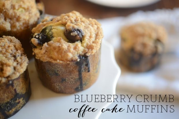 Get your boost in the morning - Blueberry Crumb Coffee Cake Muffins