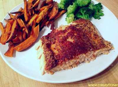 Oven Broiled Sundried Tomato Pesto and Dijon Mustard Grain Salmon