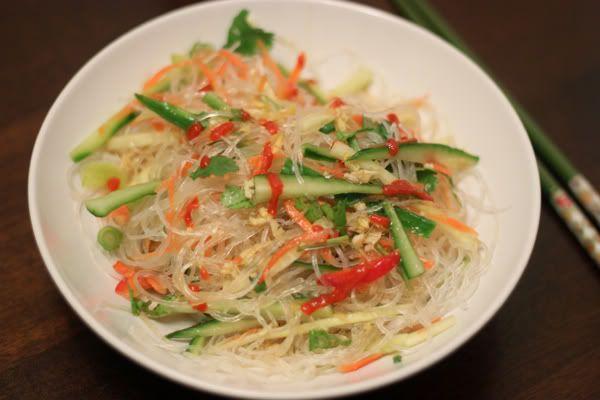 Thai Chicken And Noodle Salad Recipe — Dishmaps