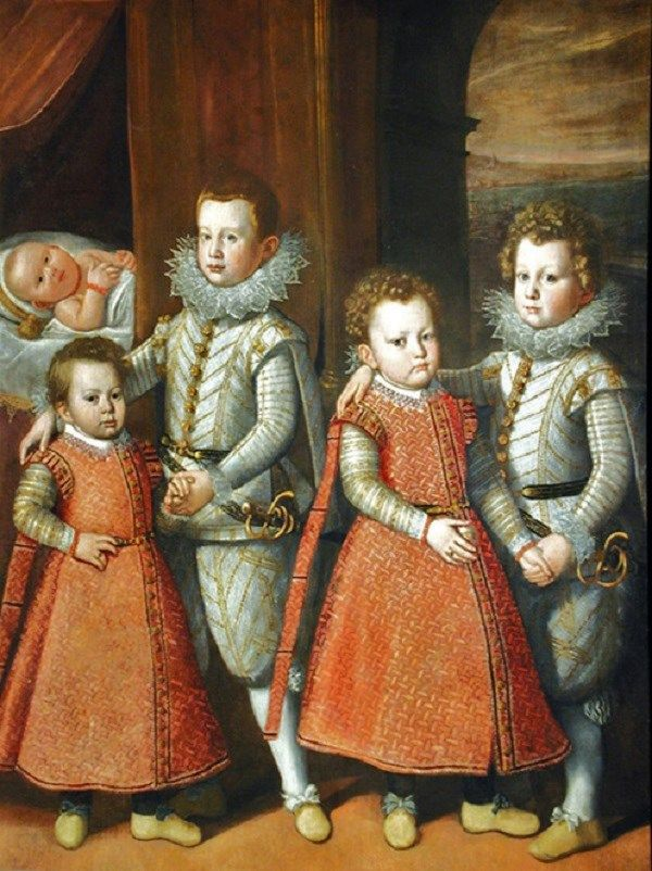 1597 Tiberio di Tito (Italian artist, 1573–1627) Portrait of the children of Virginio Orsini