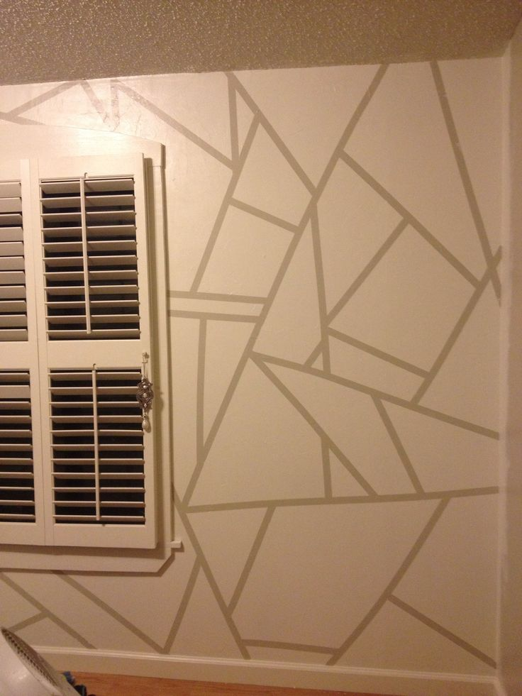 How to paint geometric patterns on a wall recipe for Geometric wall paint