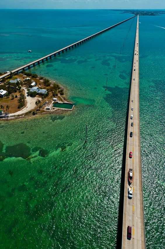 Aerial View of the Seven Mile Bridge, Florida Keys, Florida USA. Been here!
