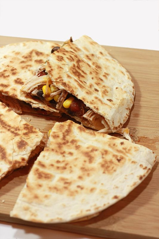 Spicy Chicken Quesadillas | Mr. Pig Approved! | Pinterest