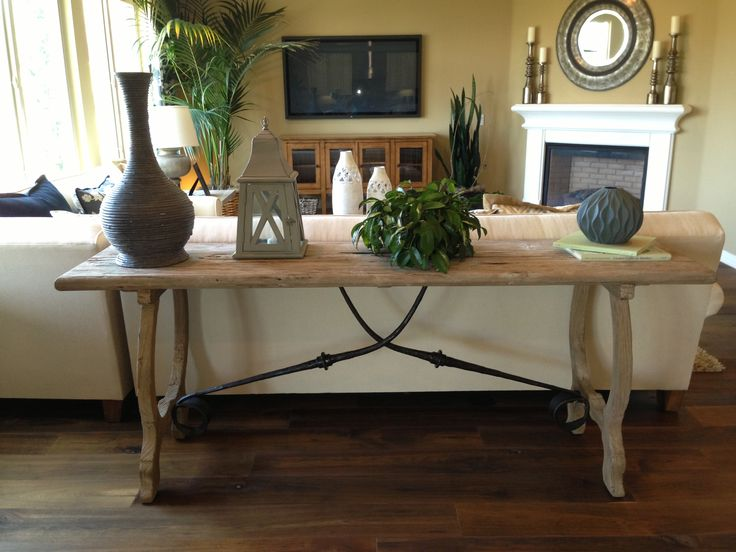 Table behind couch home sweet home