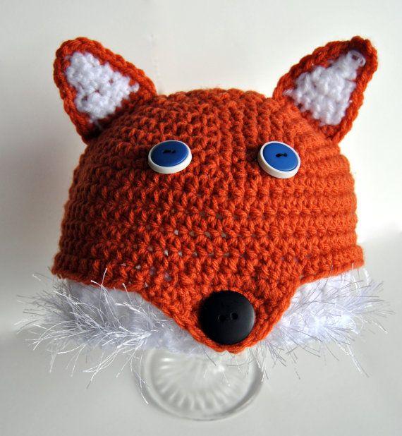 Crochet Fox Hat by TORYmakes on Etsy, $21.00