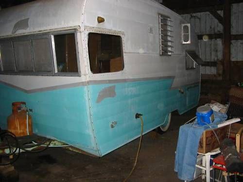Vintage 1959 shasta airflyte 16 ft travel trailer nice original