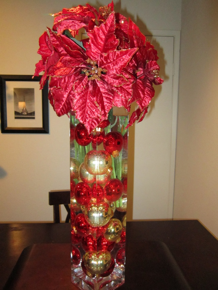 Tall christmas centerpiece wedding pinterest
