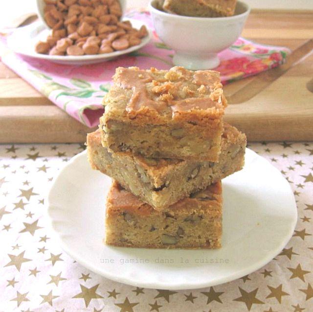 Maple Walnut Blondies with Butterscotch Glaze...I love the Maple ...