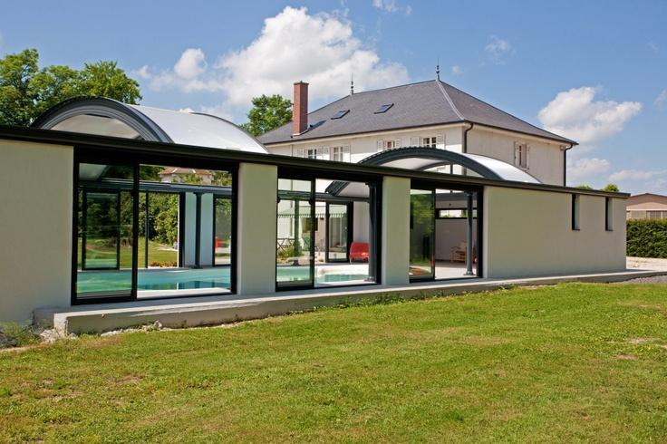 abris de piscine d me up vue exterieur piscine pinterest. Black Bedroom Furniture Sets. Home Design Ideas