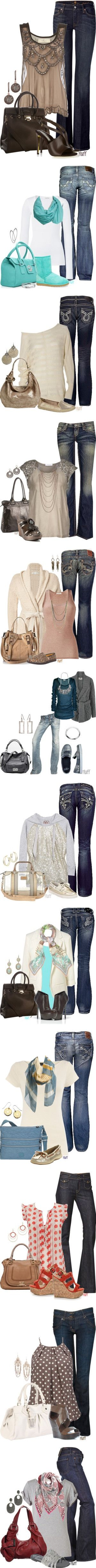 """""""Jean Sets"""" by fluffof5 on Polyvore"""