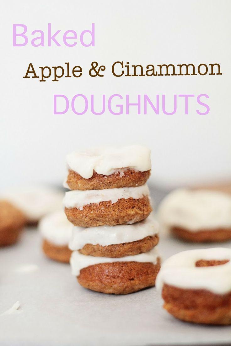 Baked Apple Cinnamon Doughnuts | Baking Blogs - Best Bits | Pinterest