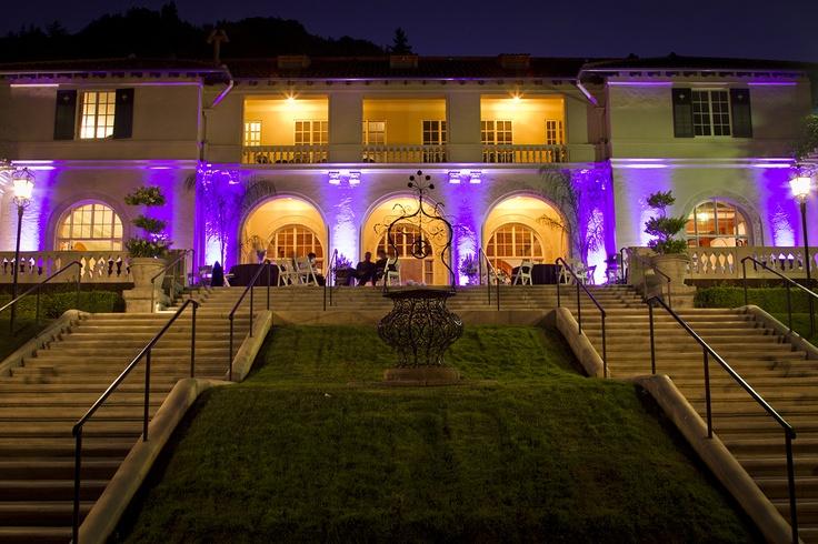 Outdoor uplighting at villa montalvo wedding saratoga ca for Exterior uplighting