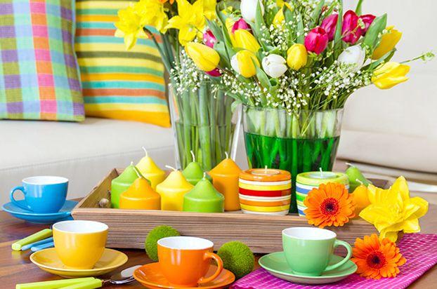 Decor de primavera =  mesa alegre e paleta colorida!
