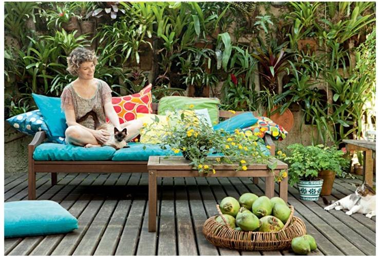 jardim deck de madeira:jardim com deck de madeira