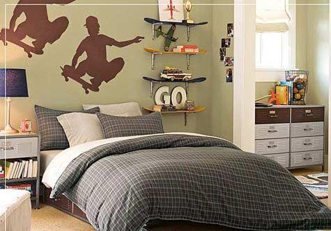 Teen Boys Bedroom Designs Teenage Boys Room Design Skater Wall