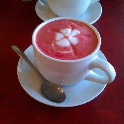 love anything red velvet...including this red velvet latte that I'll ...