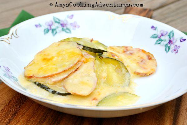 light zucchini & potato au gratin.   kitchen creations.   Pinterest