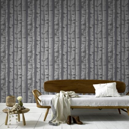 Pin by lauren ann on bedroom sage green and white for Wallpaper homebase grey