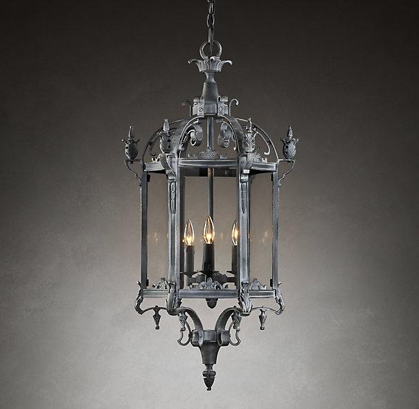 salerno streetlight pendant weathered zinc from restoration hardware