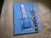 DIY Clothes DIY Refashion DIY Denim Composition Book