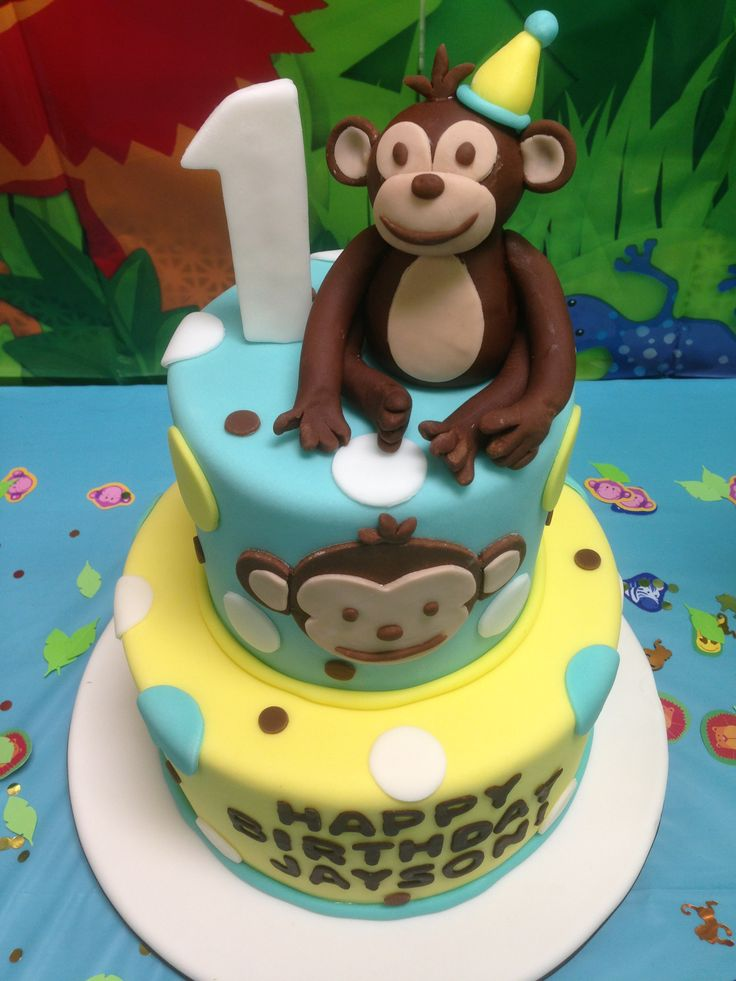 Birthday Cake Ideas Monkey : MOD Monkey Cake Topper Planning Jayson s 1st Birthday ...