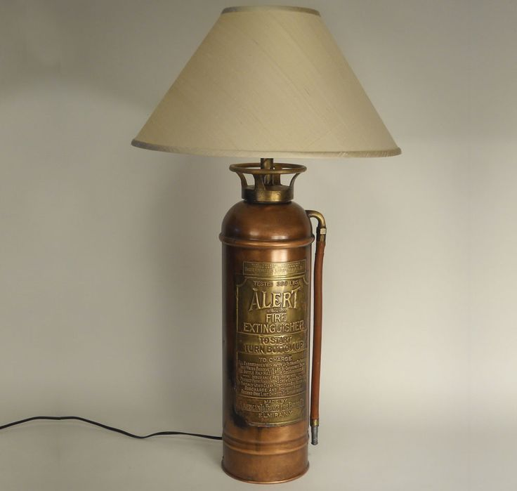 Old fire extinguisher lamp