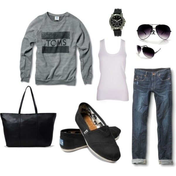 """""""Affordable TOMS Fashion"""" by rachel-norris on Polyvore"""