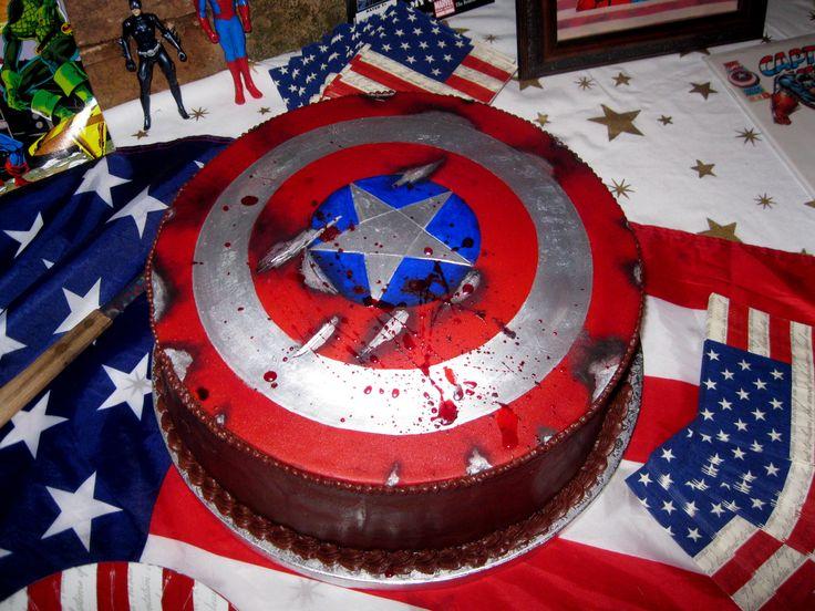 Captain America Grooms Cake