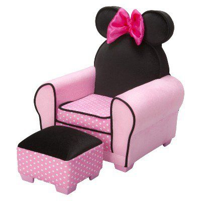 Disney Minnie Mouse Chair & Ottoman  Bella  Pinterest