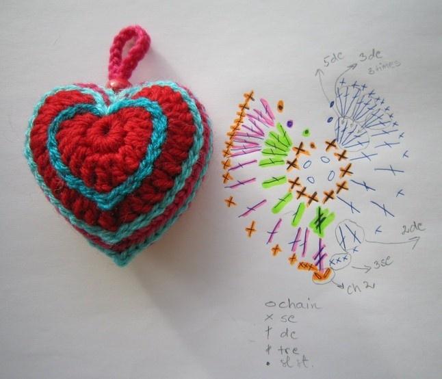 heart pattern   Crochet   Pinterest