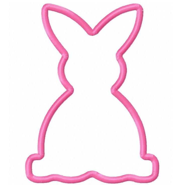 Digi dolls bunny rabbit applique machine embroidery