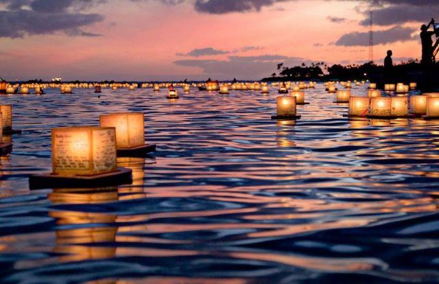 memorial day hawaii lantern