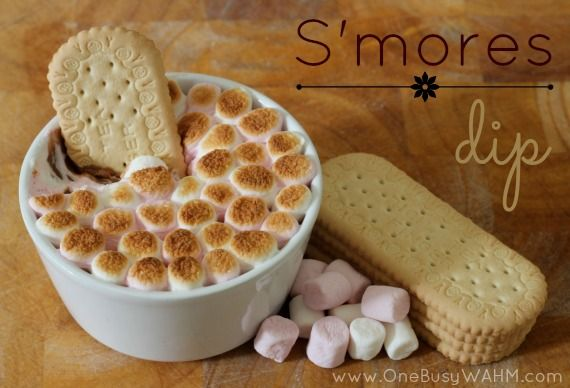 Smores Dip - all the deliciousness of S'mores - without the sticky ...