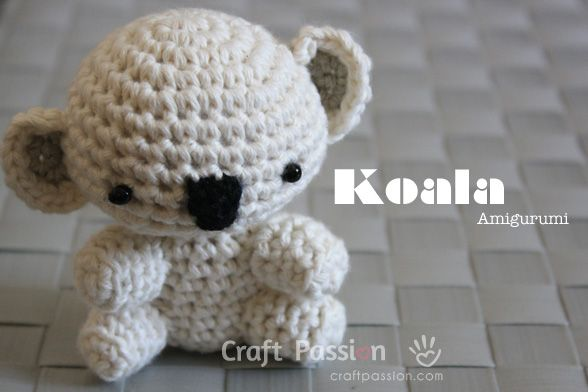 Crochet Pattern Koala Bear : Koala Amigurumi Baby Hop! Pinterest