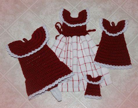 Country Diner Kitchen Set CROCHET KRAZY~Kitchen~Towels ...