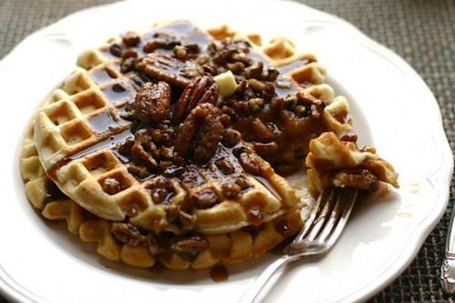 pecan waffles recipe -yum | Best of Stagetecture.com | Pinterest