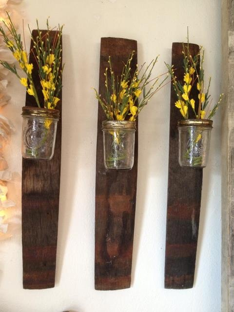 Mason Jar Wall Decor Pinterest : Cute diy mason jar vase wall decor