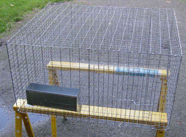 Rabbit cage plans farm house pinterest for Rabbit enclosure design