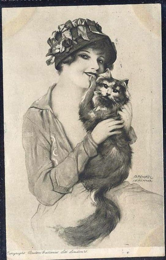 Raphael Kirchner's postcard, 1916