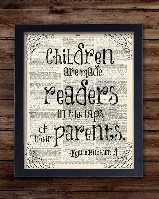 Children are made readers in the laps of