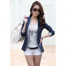 Cheap wholesale modern style splicing design v neck long sleeve cotton